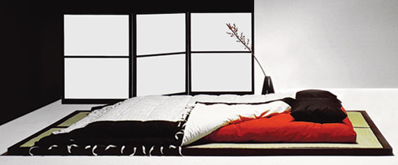 japanisches futonbett. Black Bedroom Furniture Sets. Home Design Ideas